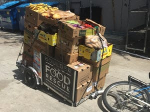 Boulder Food Rescue Bike Trailer of Food