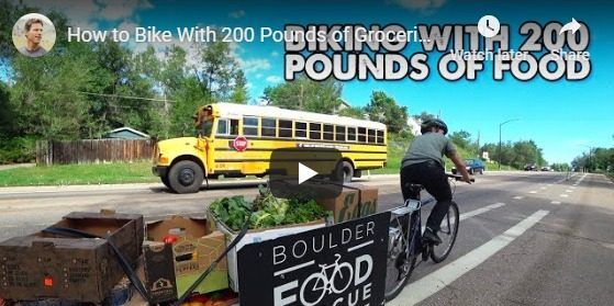 """""""Carrying 200lbs of Food on a Bicycle"""""""