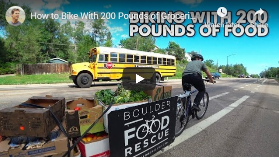 Carrying 200lbs of Food on a Bicycle