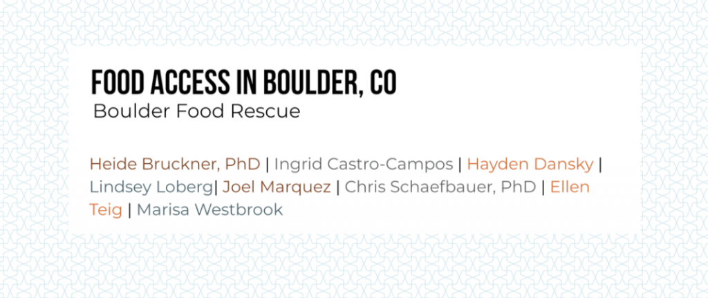 Food Access in Boulder, CO cover photo